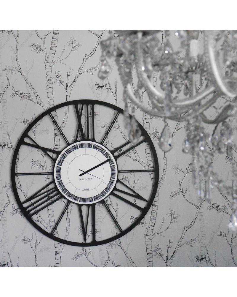 orologio da parete grande ruota colore nero