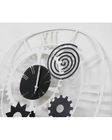orologio da parete moderno ingranaggio colore bianco