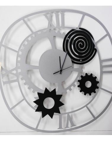 orologio da parete moderno ingranaggio colore argento
