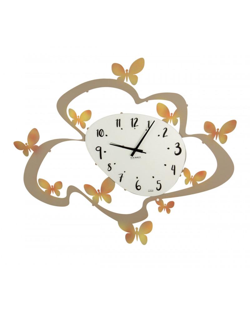 orologio da parete farfalle bicolor