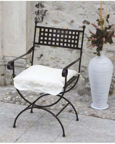 sedia in ferro battuto colore nero