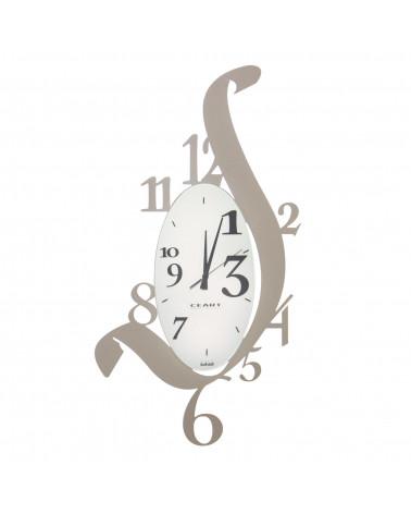 orologio da parete solfeggio design moderno in metallo colore tortora